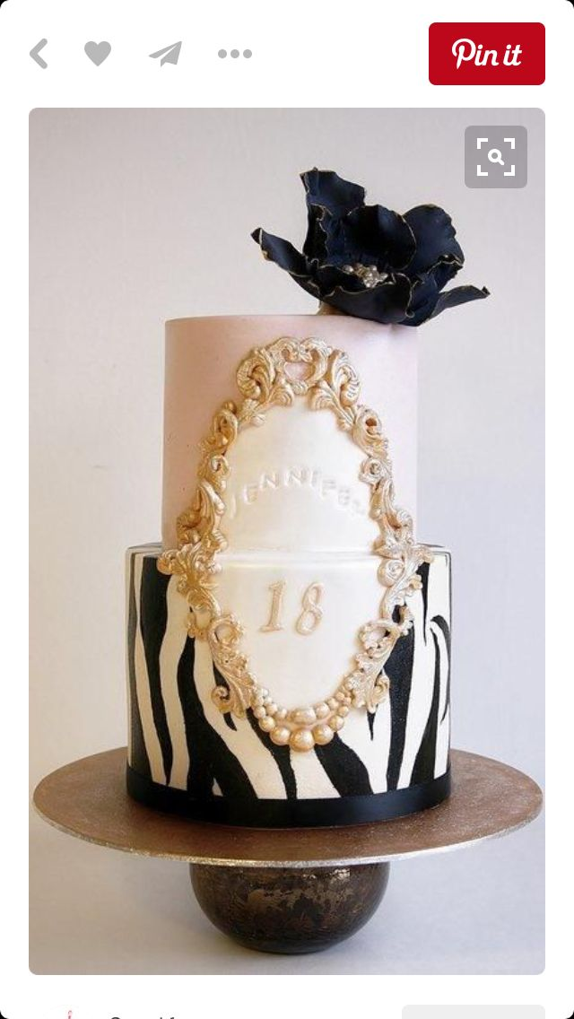 81 best Zebra Cakes images on Pinterest Zebra cakes Birthdays and