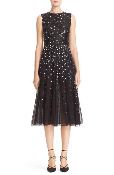 Carolina Herrera Dégradé Sequin Silk Midi Dress available at #Nordstrom