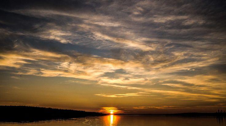 Midnight sun -Rovaniemi, Lapland, Finland