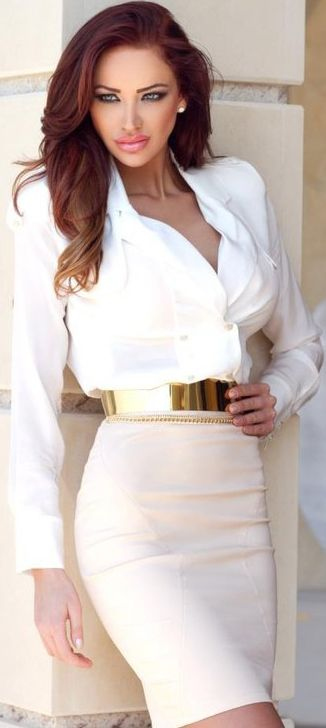 great business outfit. fresh, beautiful, appropriate, sophisticated and professional