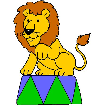 Coloriage lion cirque a imprimer dessin colorier et dessin non colorier pinterest - Photo de lion a imprimer en couleur ...