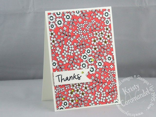 Clean and Simple Thank You Card Idea