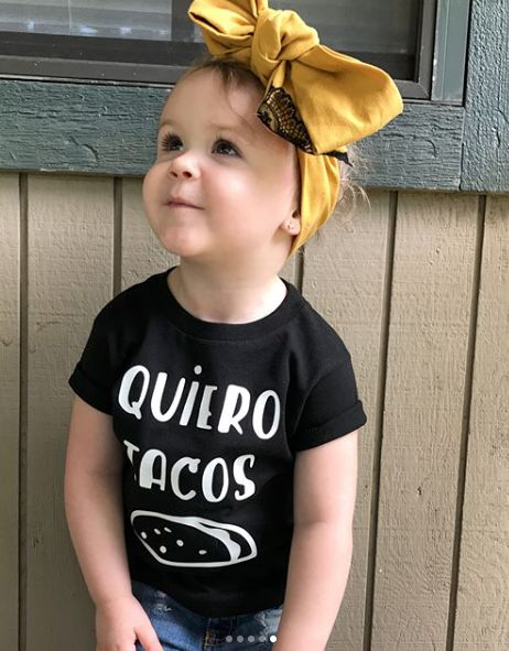 Quiero Tacos #GraphicTees #Tees #Minimal #Tacos #ToddlerFashion