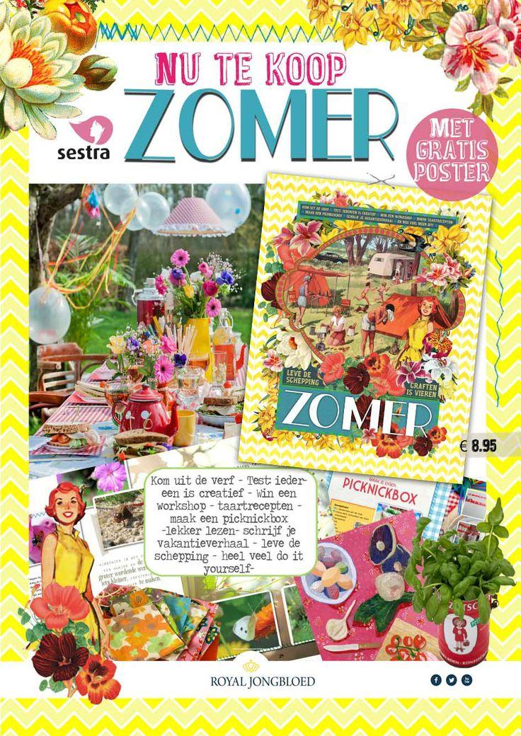 Het nieuwste Sestra magazine ZOMER is vers van de pers gerold. Superdik, vrolijk, inspirerend en met heel veel craftideeën. Daarnaast ook verdiepende artikelen en leuke reportages. Te koop via de (christelijke) boekwinkel en via  Sestra: http://www.uitgeversgroepjongbloed.nl/nl/product/9789491844133/index.html of via By Kris: http://www.bykris.nl/c-2197633/magazines/
