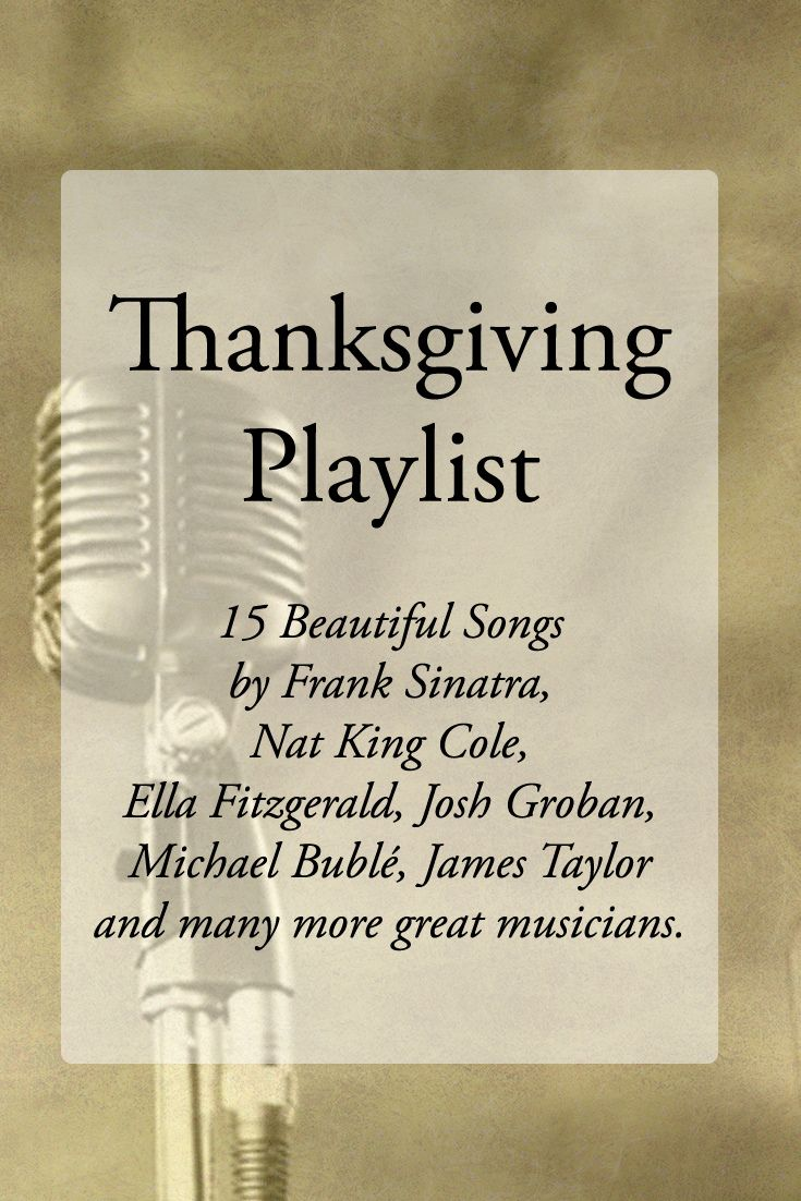 Thanksgiving Playlist More