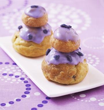 Religieuses à la violette – crème pâtissière & pâte à choux - les meilleures recettes de cuisine dÔdélices