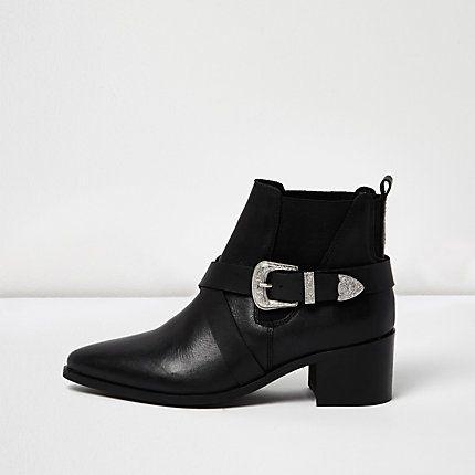 Black cross strap Western boots �45.00