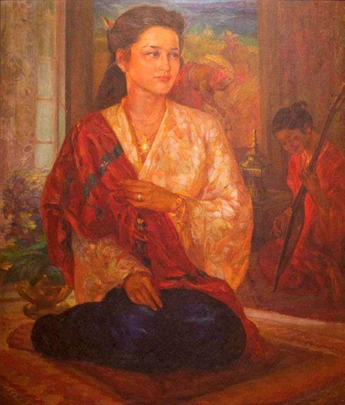 Ireneo Miranda, Tausug Princess, 1951, National Museum.    http://pupuplatter.tumblr.com/post/45725793596/ireneo-miranda-tausug-princess-1951-national