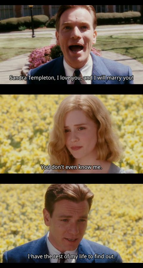 Big Fish by Tim Burton. Love this movie. I highly recommend it