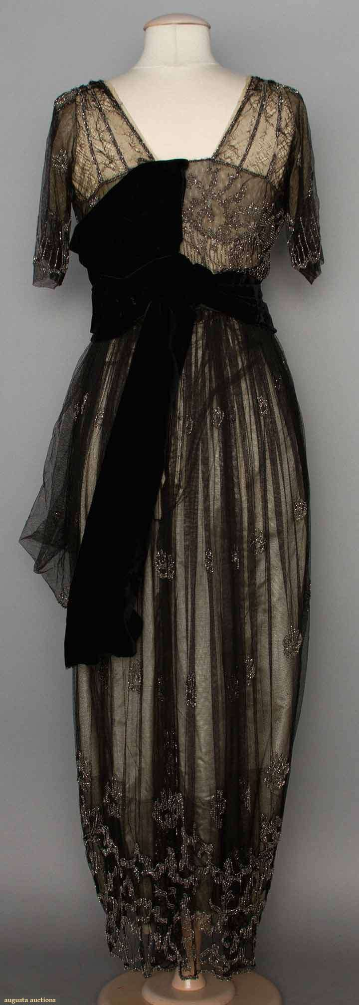 """BEADED EVENING GOWN, 1911-1912 