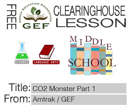 """Students learn about the effects of car exhaust resulting from the millions of miles driven by Americans each year. Students calculate weekly figures to understand the amount of carbon dioxide their vehicles put into the atmosphere and write creative stories about the """"monster"""" effects of these emissions.  #free #languagearts #science #middleschool"""