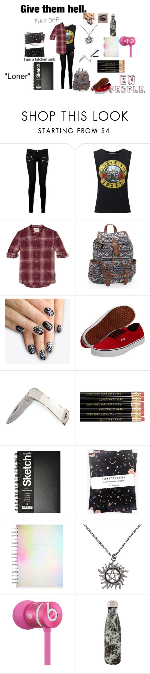"""""""~Can you hear the silence?~"""" by donttrusttylerjoesph ❤ liked on Polyvore featuring Paige Denim, Miss Selfridge, Hollister Co., Aéropostale, alfa.K, Vans, Nikki Strange, Hot Topic, Beats by Dr. Dre and West Elm"""