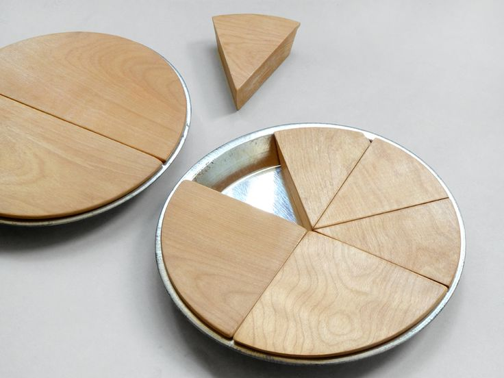 Pre-Math, with wooden pies.