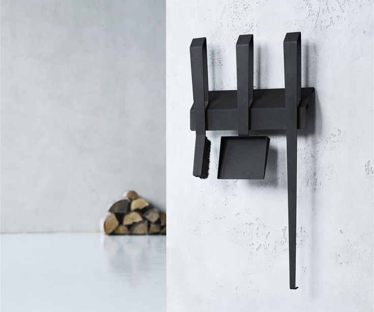 black modern fireplace tools wall mounted - Google Search