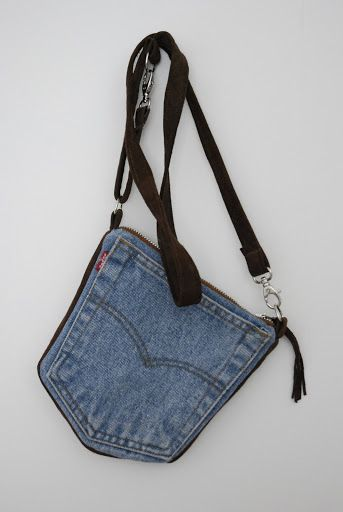 Marja Karlin recycled jeans - small bag