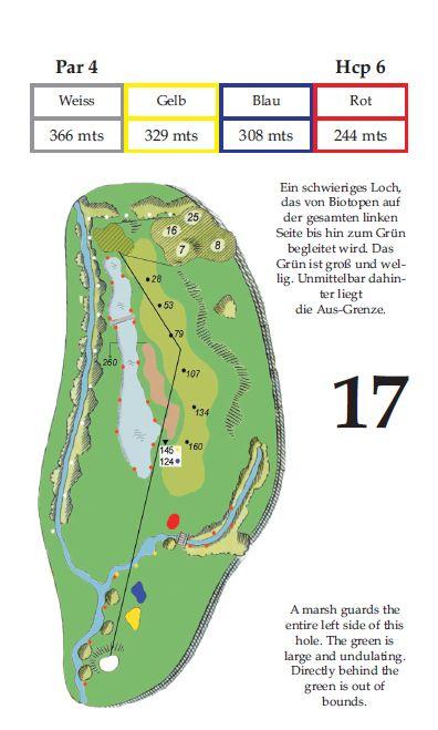 Lochbeschreibung Tee 17 im Golfclub Gut Altentann