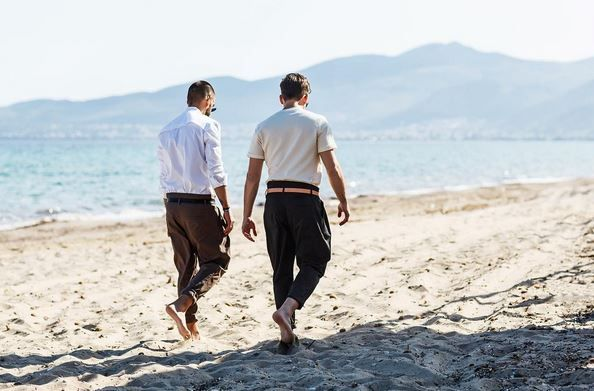 "🔸""You don't have to be crazy to be my friend• I'll train you🔸  #madeformen #friends #friendship #boys #men #menstyle #menswear #homagetomanhood #sand #sun #sea #sky #salty #potd #ootd #motd #boheme #dantemen #dante #dantemenswear #pants"