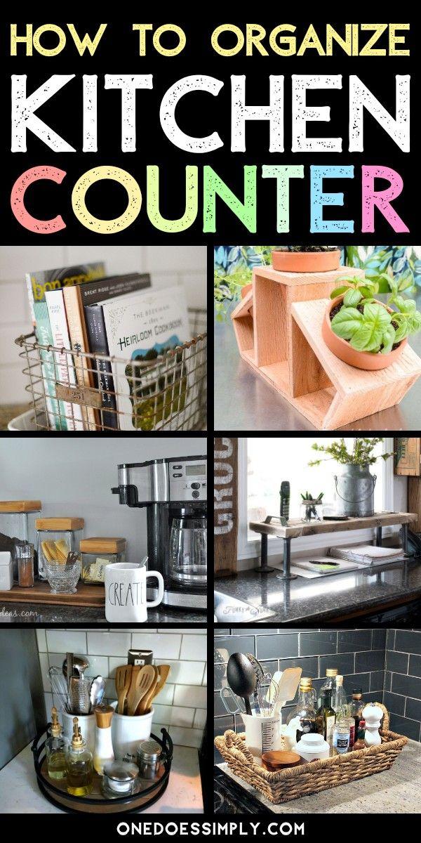 11 Kitchen Countertop Organization Ideas To Help You Build A