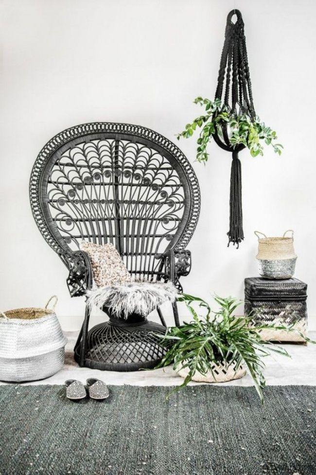 les 25 meilleures id es de la cat gorie chaises en rotin sur pinterest chaise d 39 oeuf suspendue. Black Bedroom Furniture Sets. Home Design Ideas