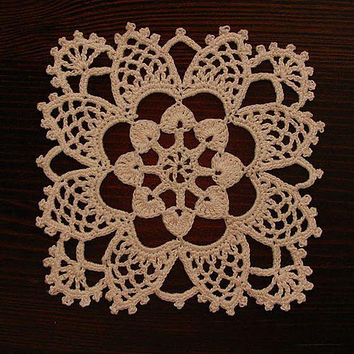 Stardust Bedspread Medallion #37 pattern by Lily Mills Company (1944) ~ Free pattern