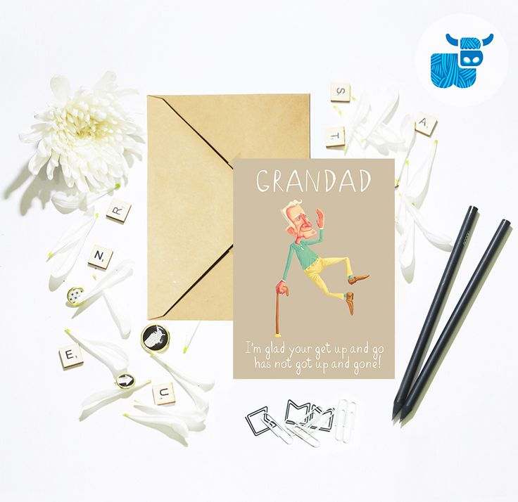 Papa, Gramps, Grandad, Grandpa, Nonno, Abuelo…whatever you call him, let him know that in your eyes he's still young at heart 🐮💙  Card- https://www.etsy.com/uk/listing/481843446/grandad-birthday-card-clicking-heels-get?ga_search_query=grandad&ref=shop_items_search_10&utm_content=buffera81e0&utm_medium=social&utm_source=pinterest.com&utm_campaign=buffer