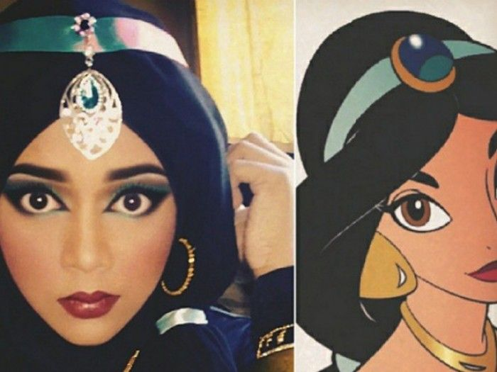 We are in complete and total awe of a makeup artist from Malaysia who can completely transform herself into every single Disney princess with nothing but her palette and hijab. Saraswati, who goes by @queenofluna on Instagram, is beyond talented when it comes to applying makeup. But we're equally impressed with the way she twists her hijab into different shapes so that it looks like animated Disney-esque hair. TBH it's amazing.    A photo posted by @queenofluna on Feb 24, 2016 at 12:47am…