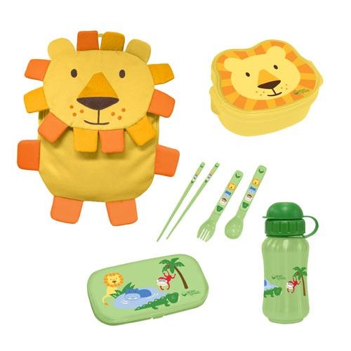 Green Sprouts On Safari 4-Piece Set, Lion #bento #projectlunchbox