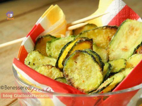 Chips di Zucchine al forno | Benessere e Gusto ricette facili