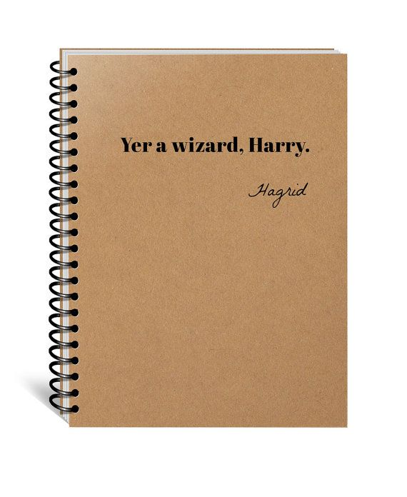 Harry Potter Notebook, Hogwarts, Hufflepuff, Gryffindor, Slytherin, Ravenclaw, Journal, Diary, Wizard Harry, Christmas, Birthday, Movie Gift