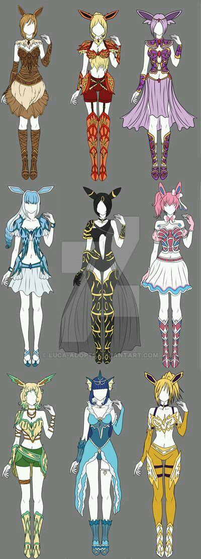 Kostümentwürfe Evoli & Entwicklungen