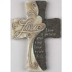 Resin Wall Cross Love Is