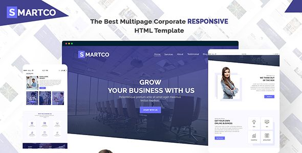 Smartco Multipage Corporate Html5 Template With Psd Html5 Templates Joomla Templates Templates