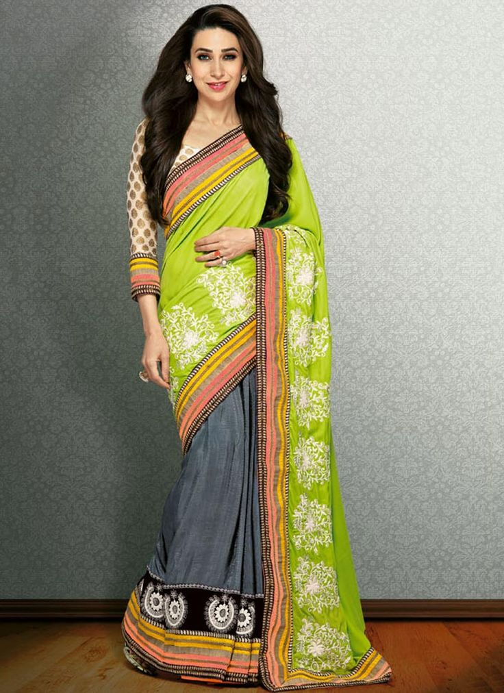 Karishma Kapoor Green Sarees. www.sareebuying.com