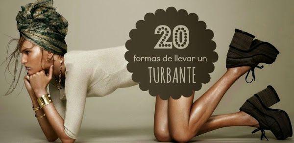 20 formas de hacer un Turbante de Moda con 1 pañuelo (DIY)