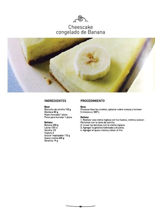 Cheescake congelado de Banana