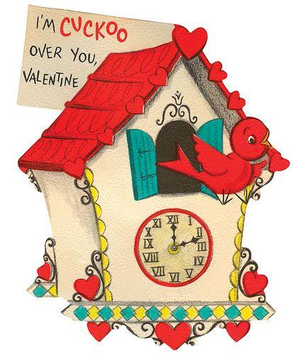 #vintage valentine, valentine clock