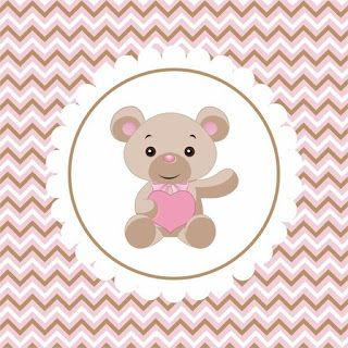 Baby Bear with Pink Heart Free Printable Mini Kit.