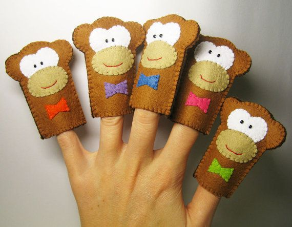 monkey finger puppets...just need a bed, a mommy and the doctor.