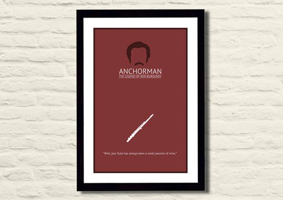 Anchorman Movie Poster Art Print 11 X 17, Modern Poster, Home Decor on Etsy, $23.00