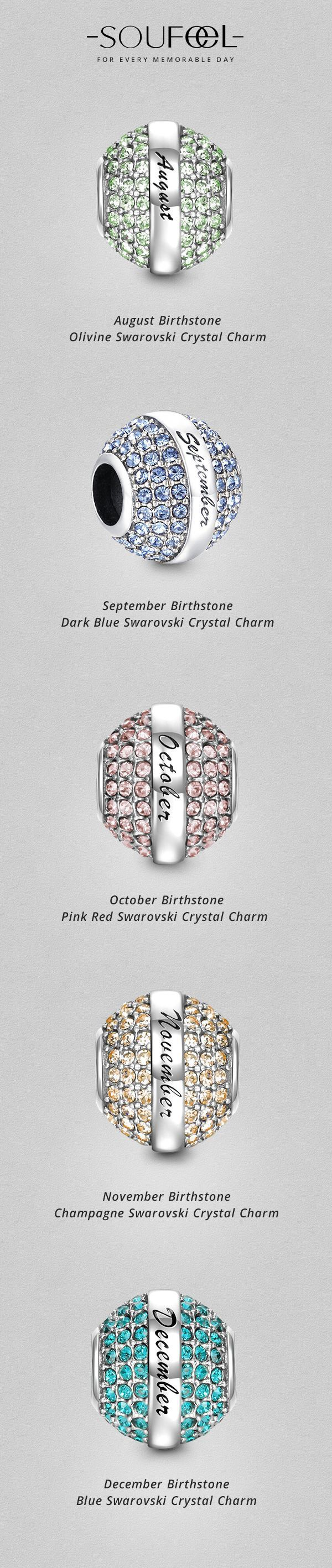 Design your own photo charms compatible with your pandora bracelets. which birthstone charm is your lucky charm ?