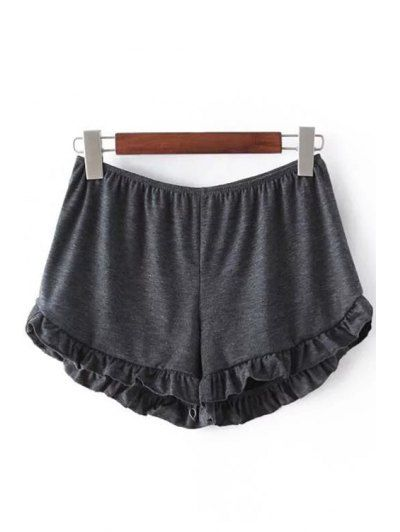 SHARE & Get it FREE   Solid Color Trimming Elastic Waist Shorts - Deep GrayFor Fashion Lovers only:80,000+ Items • New Arrivals Daily Join Zaful: Get YOUR $50 NOW!