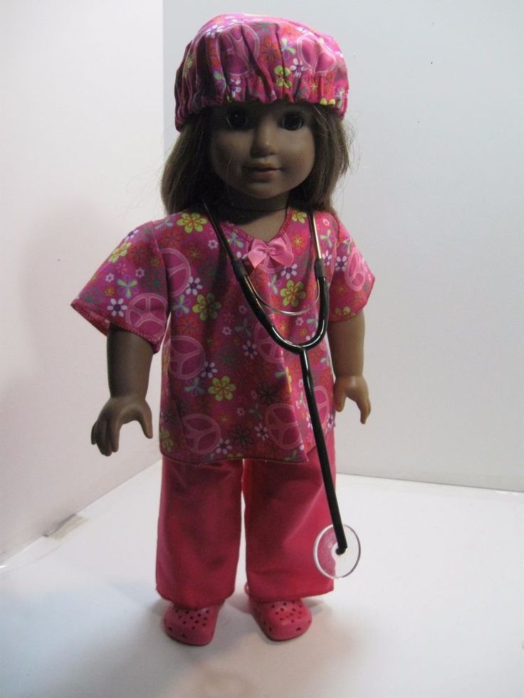 Doctor or Nurse Scrub Outfit Fits American Girl in Dolls & Bears, Dolls, Clothes & Accessories | eBay