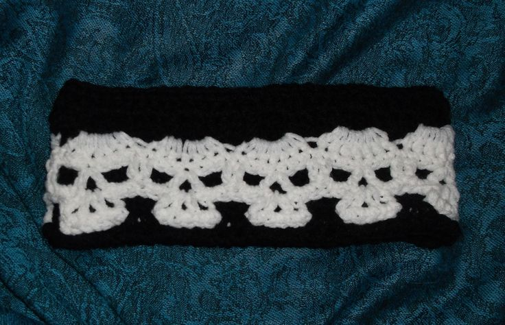 Crochet Skull Headband Handmade | Crochet Hats / Headbands ...