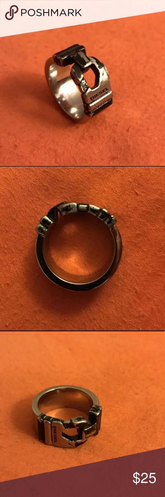 Diesel Ring Men's diesel brand ring. Stainless steel finish Diesel Accessories Jewelry