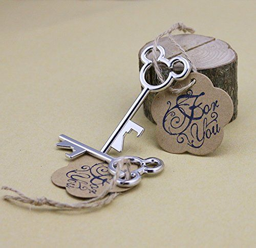 50pcs Mickey Mouse Silver Wedding Favors Skeleton Key Bottle Openers with Escort Tag Card For You Stamp MM DLWedding http://www.amazon.com/dp/B013QFXCSW/ref=cm_sw_r_pi_dp_pKjbwb0NVQCNP