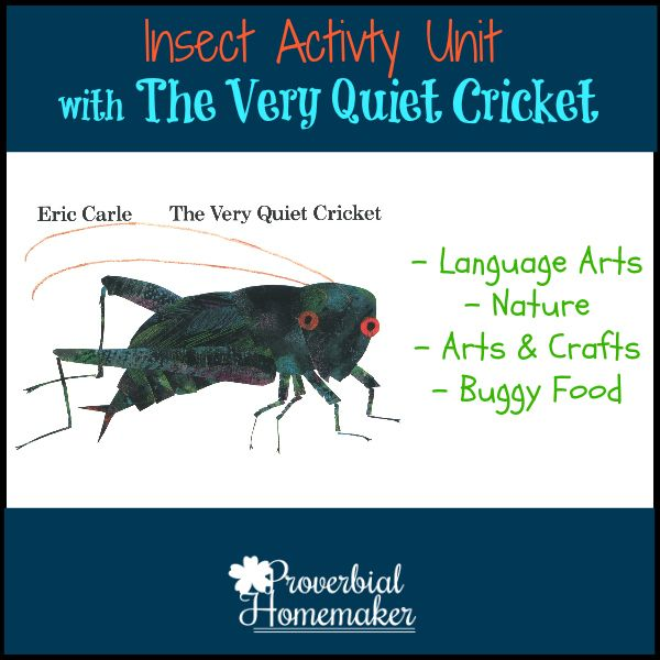 The Very Quiet Cricket Insect-Inspired Unit Activities - http://www.proverbialhomemaker.com/the-very-quiet-cricket-insect-inspired-unit-activities.html