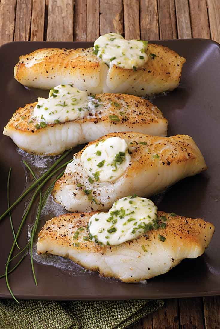 Pan-Roasted Sea Bass with Garlic Butter