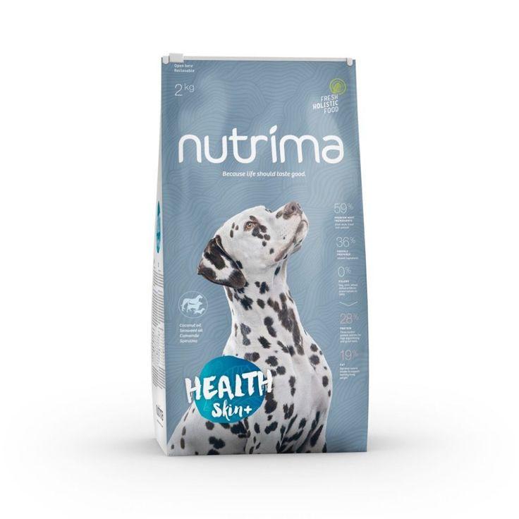 Nutrima Health Skin+ -koiranruoka koirille, joilla on herkkä iho tai vaativa turkki.
