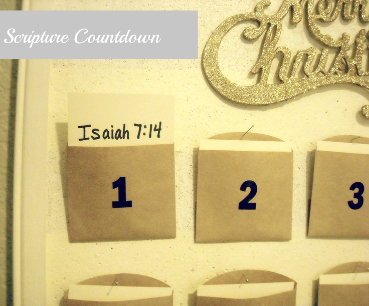 Keep Home Simple: Christ Centered Countdown to Christmas -- scriptures included.