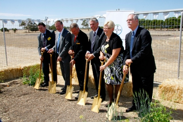 Bayer's breeding program continues to grow! The sod gets turned at the new #Bayer #Wheat and #Oilseeds Breeding Centre at #Longerenong College, near #Horsham.